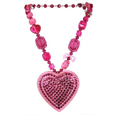 TARINA TARANTINO MULTIBEAD PAVE HEART NECKLACE PI