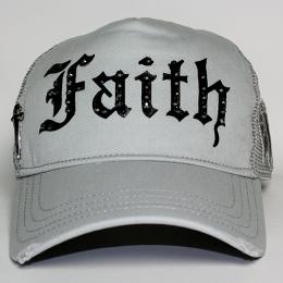 Faith Connexion Trucker Diamonds Cap GRY/BK