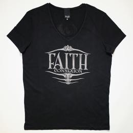 Faith Connexion Men's T-SHIRT V NECK PRINT FISH BK