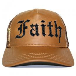 Faith Connexion Trucker Diamonds LeatherCap CA/BK