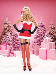 Leg Avenue 2PC.Sweetheart Santa, includes mesh mini dress RE