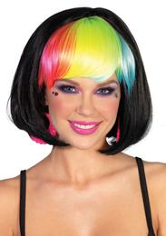 Leg Avenue Pop rainbow bob wig