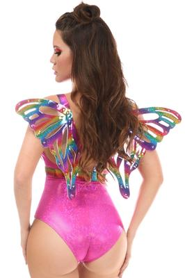 Daisy Corsets Rainbow Glitter Body Harness w/Wings
