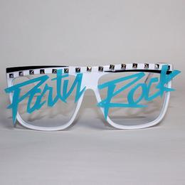 Party Rock Clothing Glow in the Dark Party Rock Words Glasses  WH/AQ