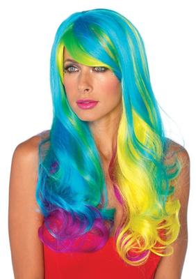 Leg Avenue Prism long wavy rainbow wig