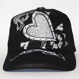 Ed Hardy PLATINUM CAP SKULL IN LOVE  BLACK