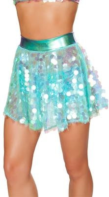ROMA Flare Sequin Skirt